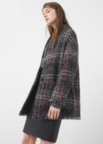 MANGO Textured Wool-Blend Coat