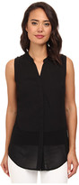 Brigitte Bailey Sleeveless Button-Down Blouse