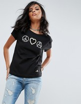 Love Moschino Peace Love And Anarchy T-Shirt