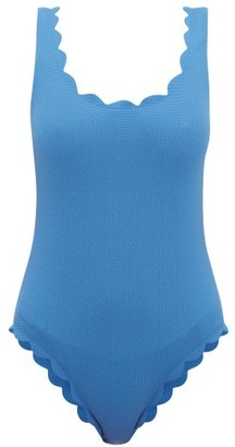 Marysia Swim Palm Springs Scallop-edged Swimsuit - Womens - Blue