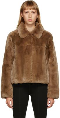 Yves Salomon Meteo Yves Salomon - Meteo Brown Fur Crop Jacket