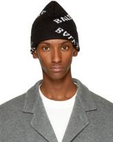 Balenciaga Black All Over Logo Beanie