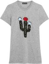 Markus Lupfer Kate embellished cotton-blend jersey T-shirt