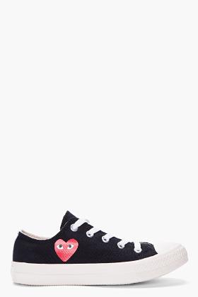 Comme des Garcons Low-top Black Canvas Converse Sneakers