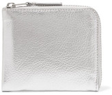 Comme des Garcons Metallic Textured-leather Wallet - Silver