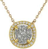 Melinda Maria 18K Plated Grey Druzy & Cz Necklace