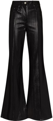 Stand Studio Reese faux-leather flared trousers
