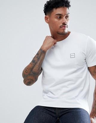 BOSS Tales box logo t-shirt in white