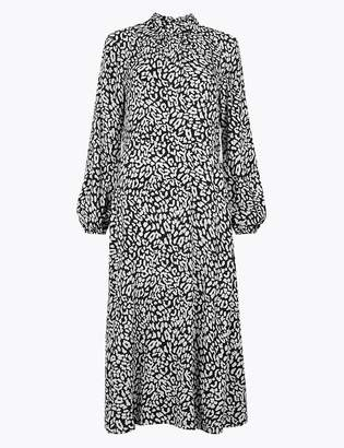 Marks and Spencer Animal Print Fit & Flare Midi Dress