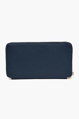 Neely & Chloe Green Pebble Leather Travel Wallet