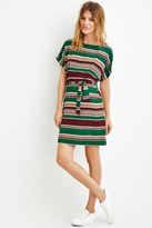 Forever 21 FOREVER 21+ Belted Stripe Sheath Dress