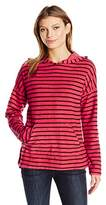 Sundry Women's Double Face Stripes Pullover Hoodie