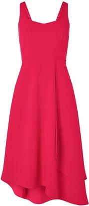 Monsoon Poppy Sustainable Plain Dress - Pink