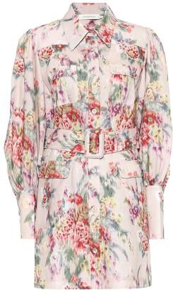 Zimmermann Wavelength floral linen minidress
