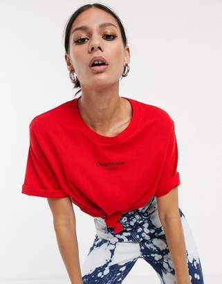 Cheap Monday Perfect logo t-shirt-Red
