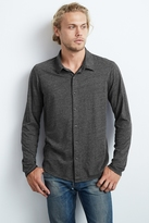 Marsh Heather Jersey Button-Up Shirt