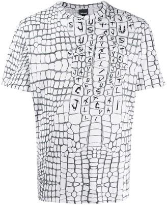 Just Cavalli crocodile-print logo T-shirt