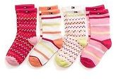 Tommy Hilfiger Big Girl's Infant Party Socks 4Pk