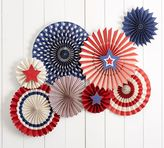 Pottery Barn Stars and Stripes Party Fans - Set of 8