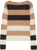 Max Mara Striped Cashmere Sweater - Beige