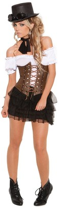 Elegant Moments Women's Underbust Corset with Lace Front