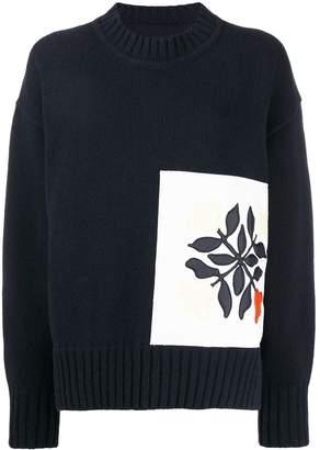 Jil Sander floral printed jumper