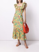 Thumbnail for your product : Rixo Abstract-Print Ruffle-Trim Dress