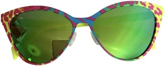 Italia Independent Yellow Metal Sunglasses