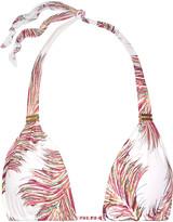 Vix Krishna Bia printed triangle bikini top