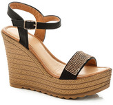 Godiva Embellished Platform Wedge Sandal