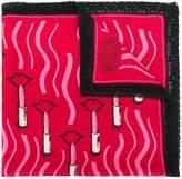 Valentino lipstick print scarf