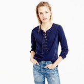 J.Crew Lace-up T-shirt