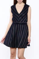 Glam V-Neck Stripe Dress