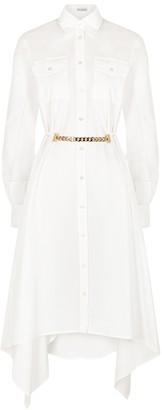 J.W.Anderson White draped cotton shirt dress