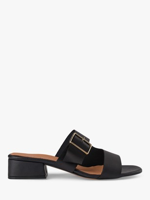Shoe The Bear Cala Buckle Leather Slip On Mules