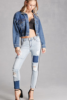 Forever 21 FOREVER 21+ Distressed Colorblock Jeans