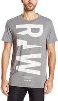 G Star Men's Ruizion R T Short Sleeve Tees Platinum