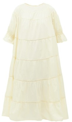 Merlette New York Paradis Tiered Cotton Sun Dress - Womens - Yellow