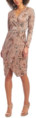 Rachel Roy Silvia Long Sleeve Printed Dress