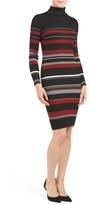 Juniors Stripe Column Sweater Dress