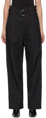 Ganni Black Paperbag Belted Trousers
