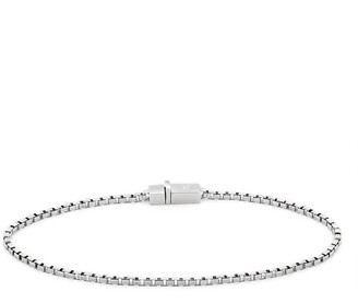 Tom Wood Square Sterling Silver Box Chain Bracelet