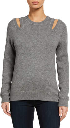 Cold-Shoulder Cashmere Sweater
