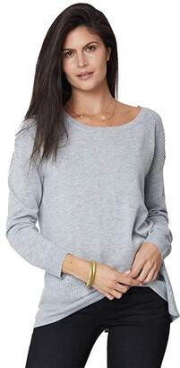 NYDJ Boatneck Sweater (Heather Grey) Women's Clothing