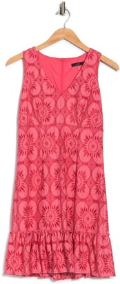 trina Trina Turk Carpinteria Sleeveless Printed Ruffle Hem Dress
