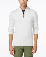 Tommy Hilfiger Men's Big & Tall Signature Solid Quarter-Zip Sweater