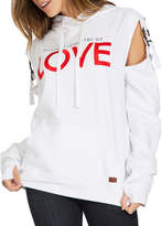 Peace Love World Frank Love Cutout Hoodie