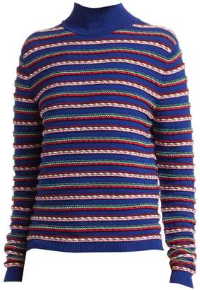 Rosie Assoulin Ottoman Stripe Virgin Wool Mockneck Knit