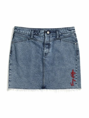 Tommy Hilfiger Women's Adaptive Denim Skirt with Magnetic Fly