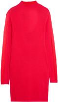 Halston Cutout cashmere mini dress